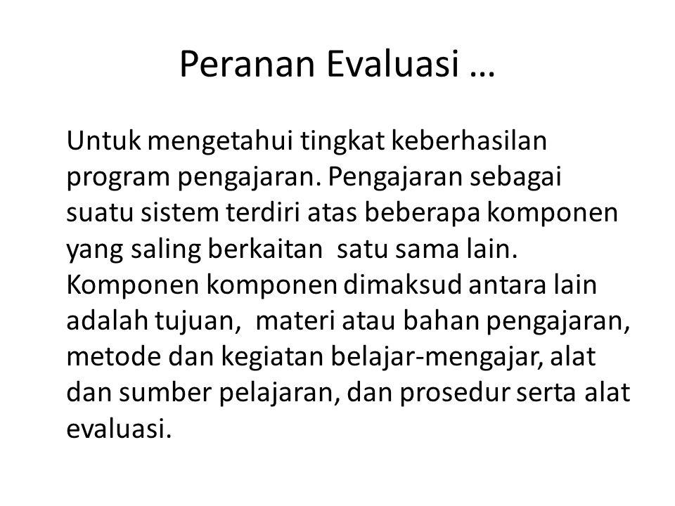 Peranan Evaluasi …