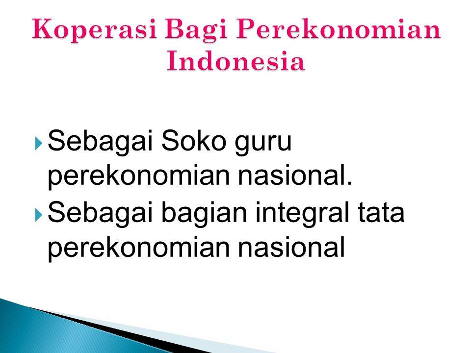 Koperasi Bagi Perekonomian Indonesia