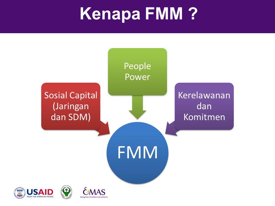 FMM Kenapa FMM Sosial Capital (Jaringan dan SDM) People Power