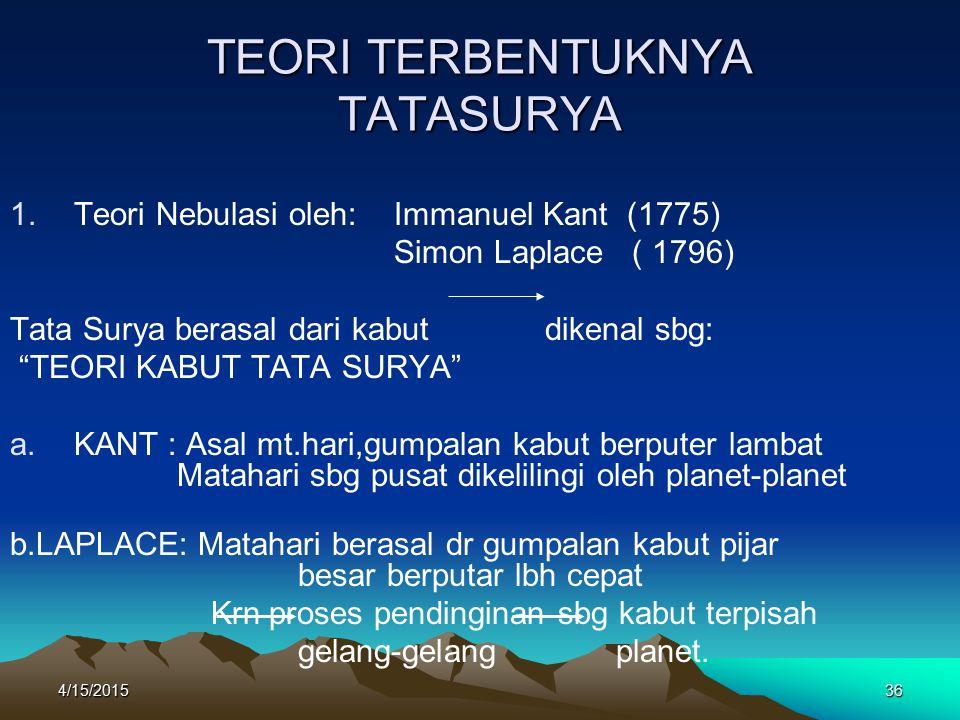 TEORI TERBENTUKNYA TATASURYA