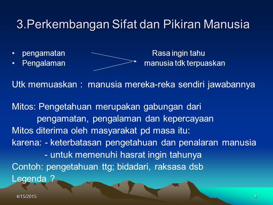 3.Perkembangan Sifat dan Pikiran Manusia