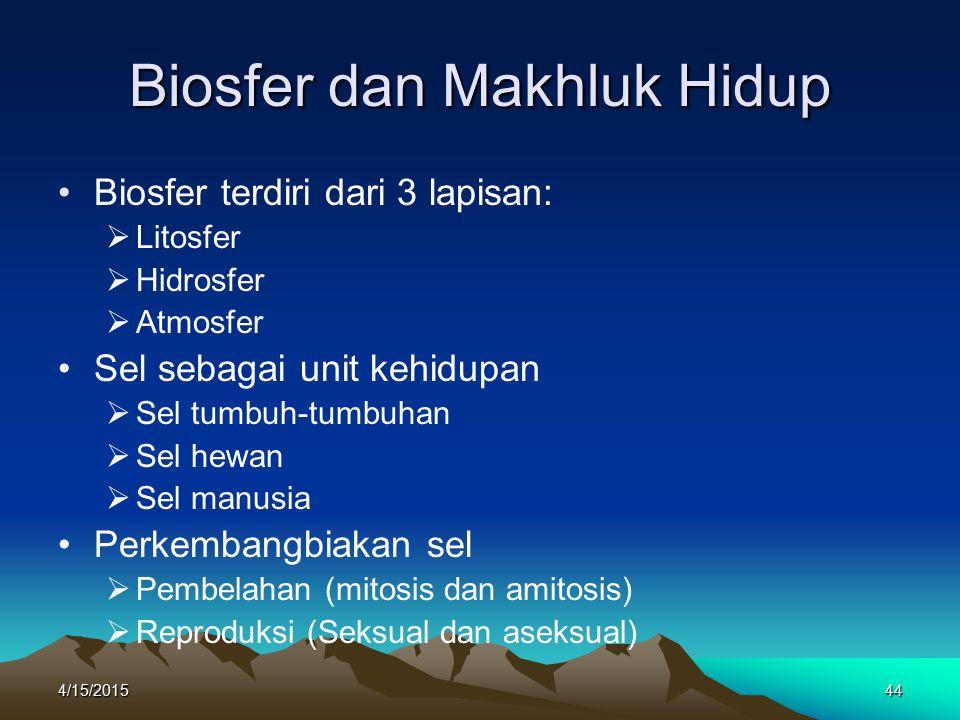 Biosfer dan Makhluk Hidup