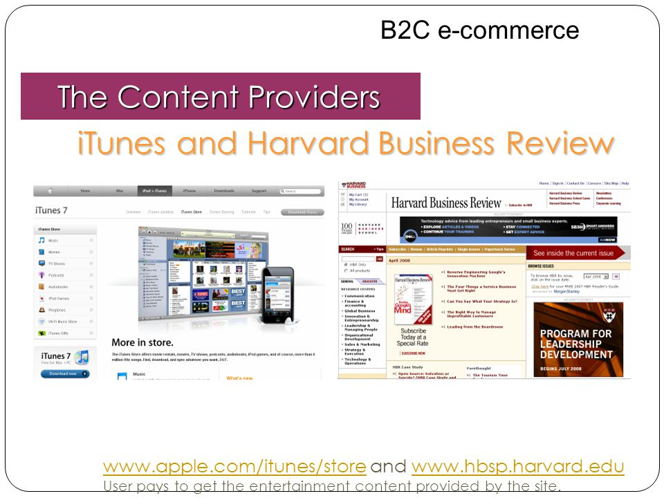 iTunes and Harvard Business Review