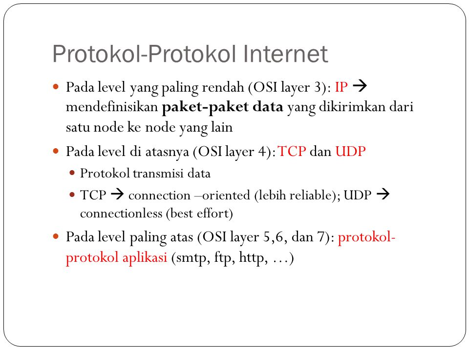 Protokol-Protokol Internet