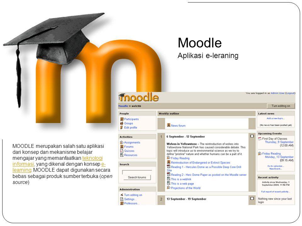 Moodle Aplikasi e-leraning