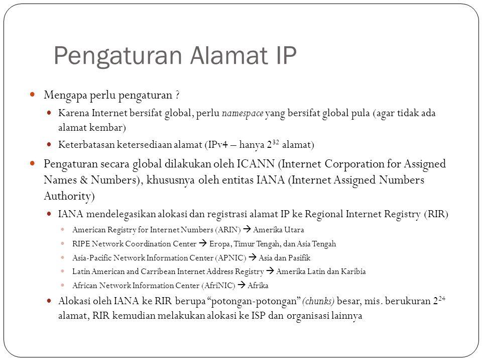 Pengaturan Alamat IP Mengapa perlu pengaturan