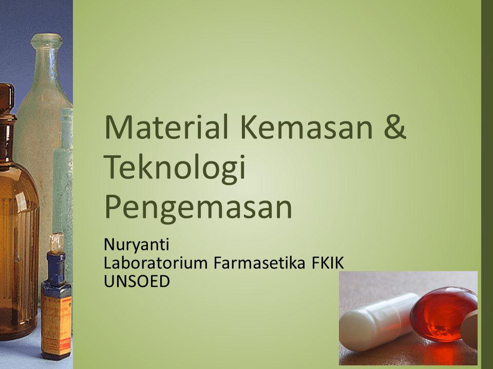 Material Kemasan & Teknologi Pengemasan