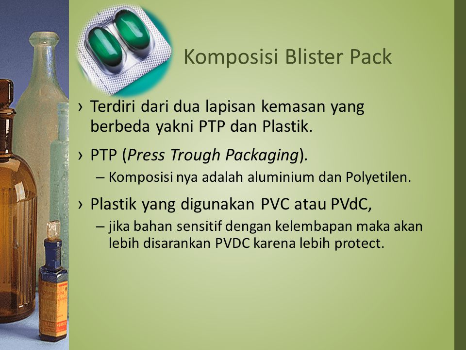 Komposisi Blister Pack