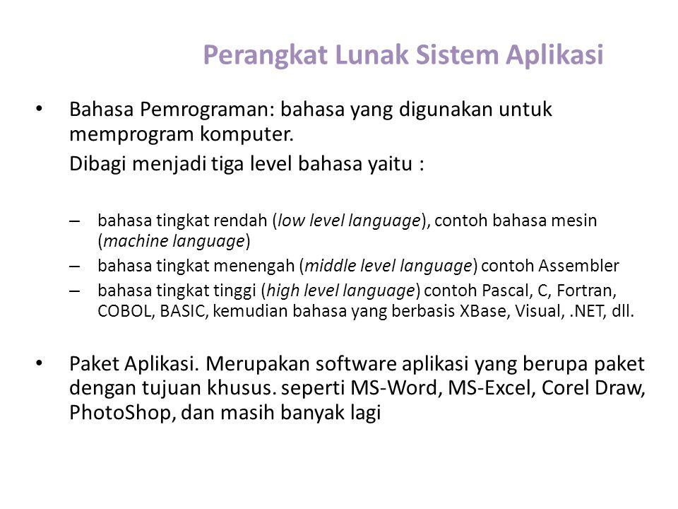 Perangkat Lunak Sistem Aplikasi