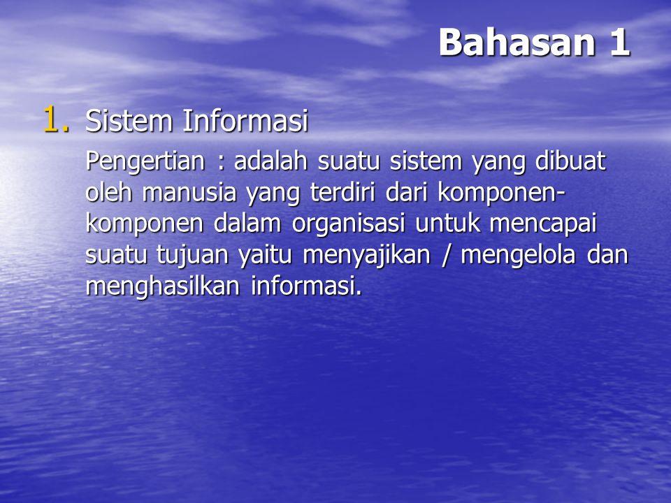 Bahasan 1 Sistem Informasi