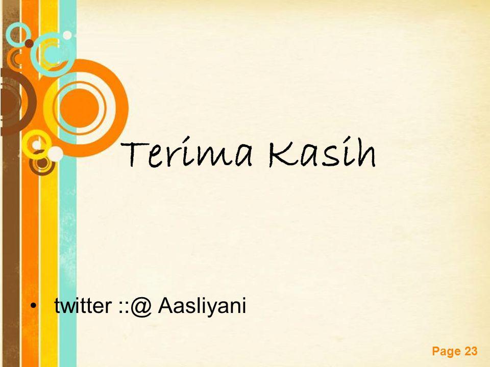 Terima Kasih twitter ::@ Aasliyani