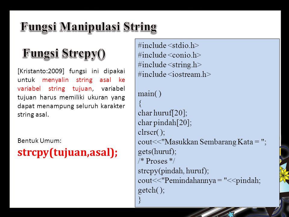 Fungsi Manipulasi String