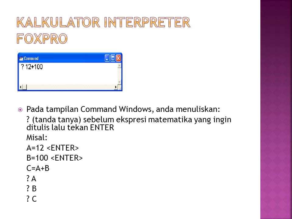 Kalkulator Interpreter Foxpro