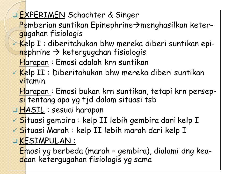 EXPERIMEN Schachter & Singer