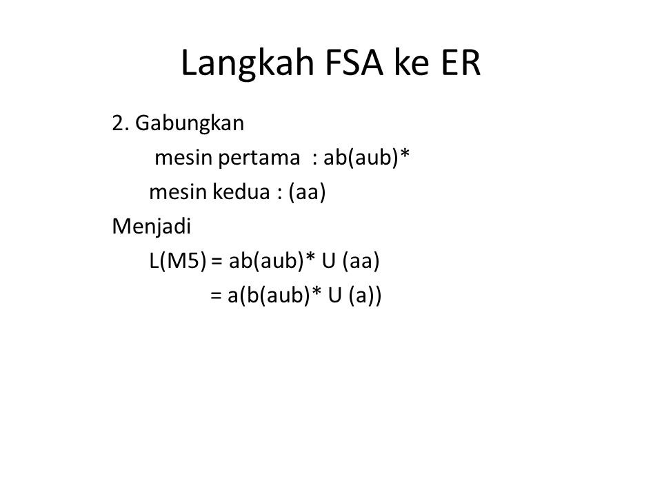 Langkah FSA ke ER 2.