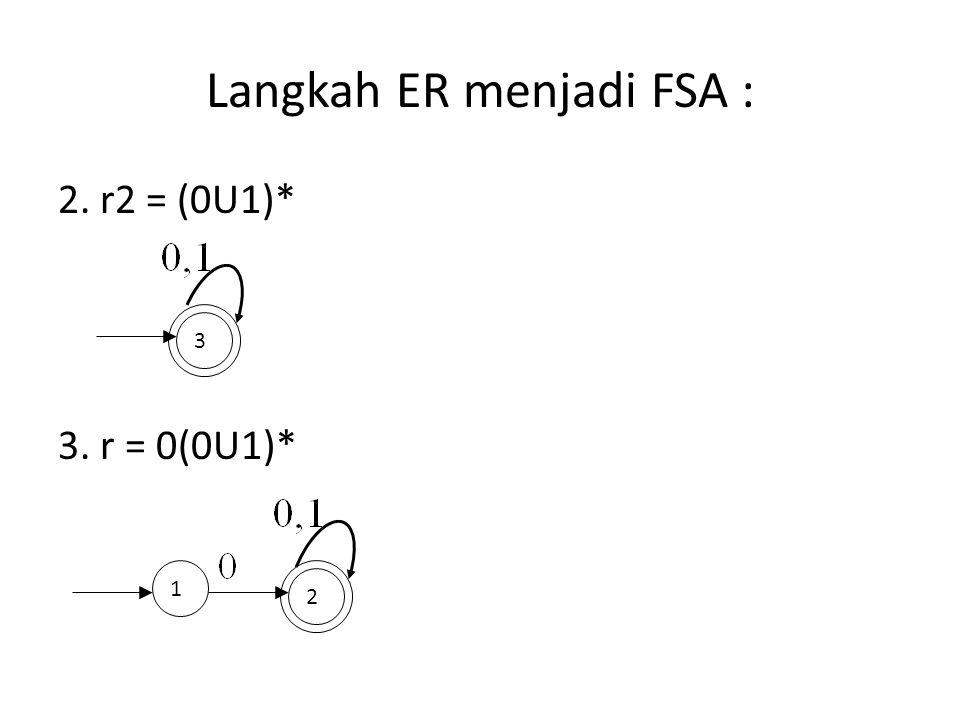 Langkah ER menjadi FSA :
