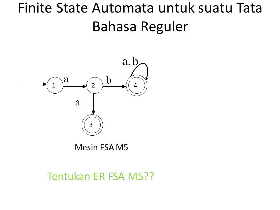 Finite State Automata untuk suatu Tata Bahasa Reguler