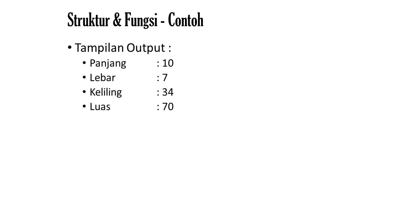 Struktur & Fungsi - Contoh