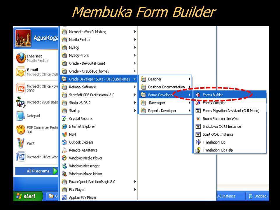 Membuka Form Builder