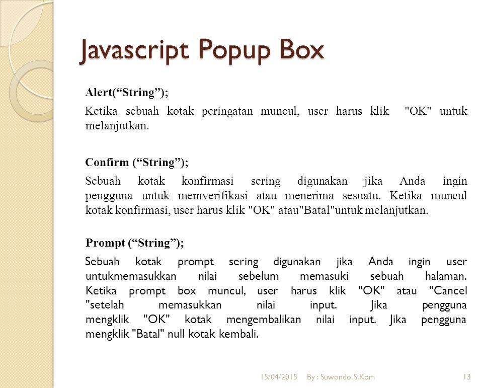 Javascript Popup Box