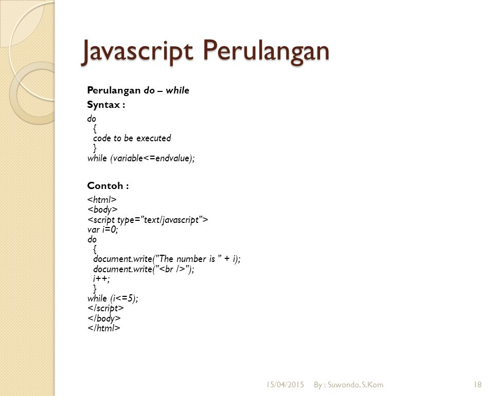 Javascript Perulangan