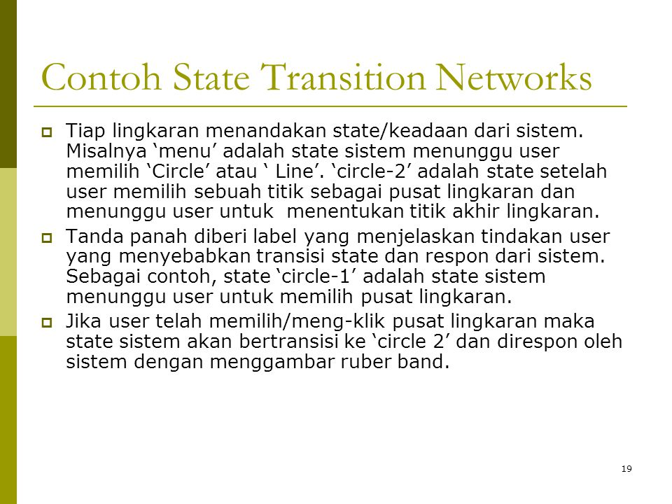 Contoh State Transition Networks
