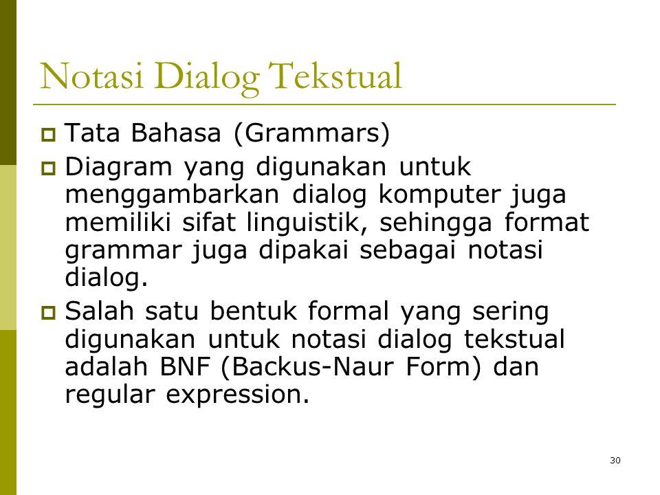 Notasi Dialog Tekstual