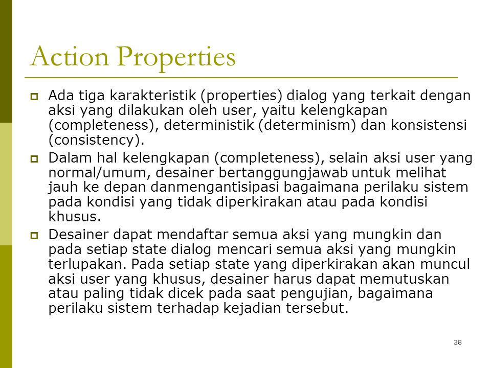 Action Properties