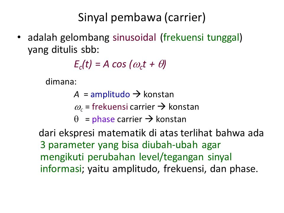 Sinyal pembawa (carrier)