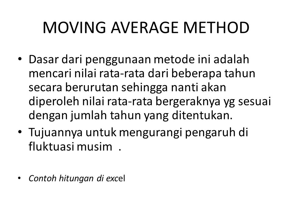 MOVING AVERAGE METHOD