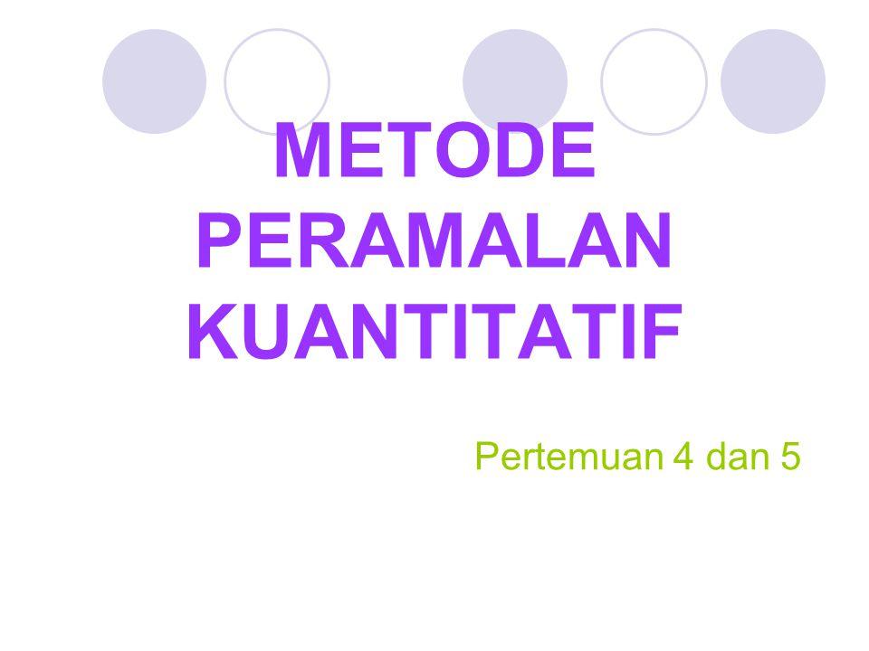 METODE PERAMALAN KUANTITATIF
