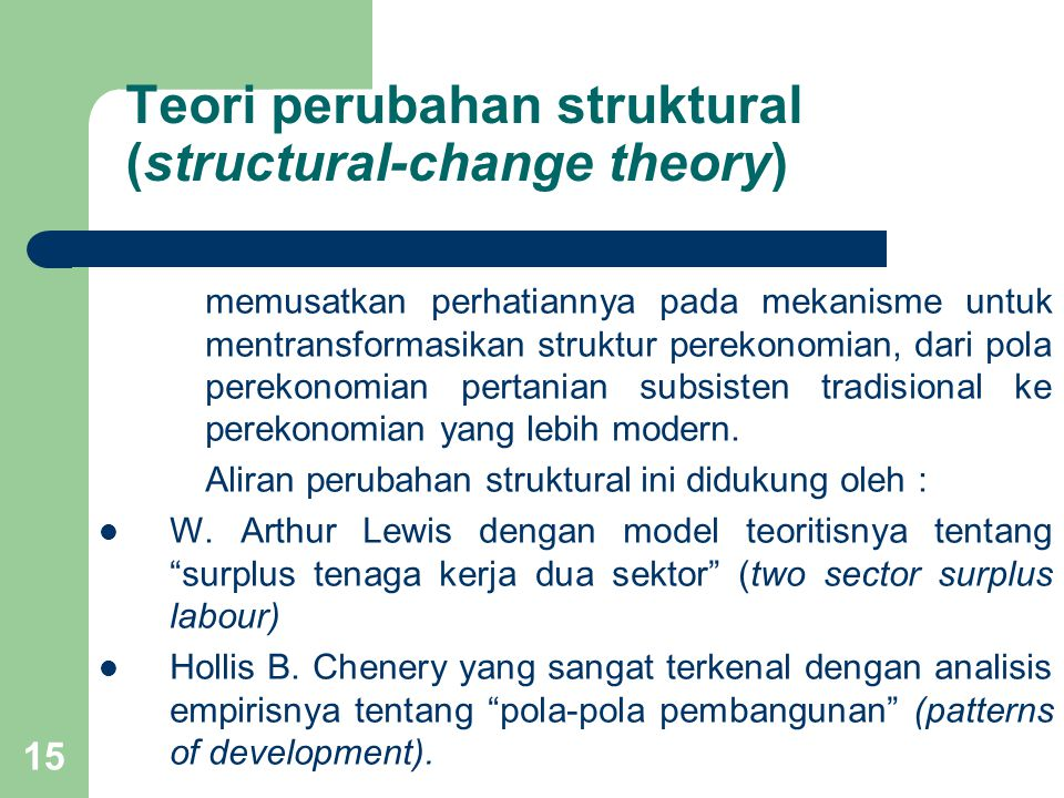 Teori perubahan struktural (structural-change theory)