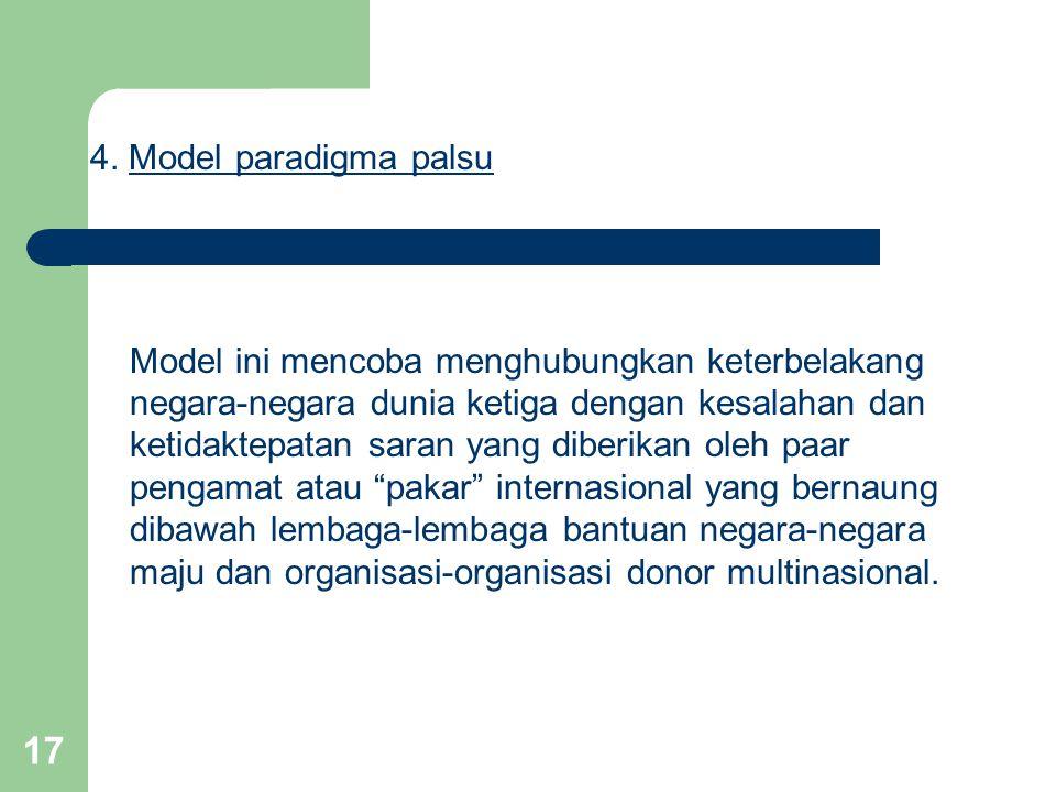 4. Model paradigma palsu