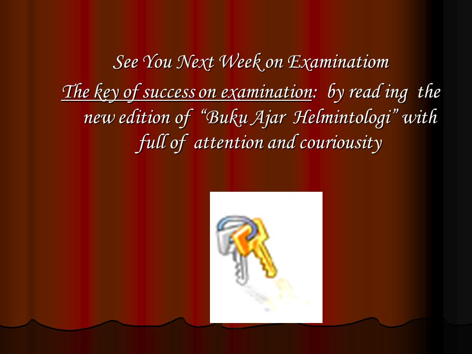 See You Next Week on Examinatiom