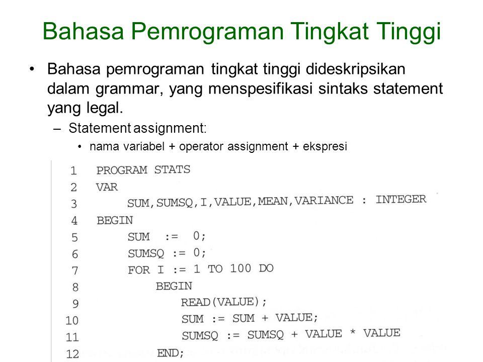Bahasa Pemrograman Tingkat Tinggi