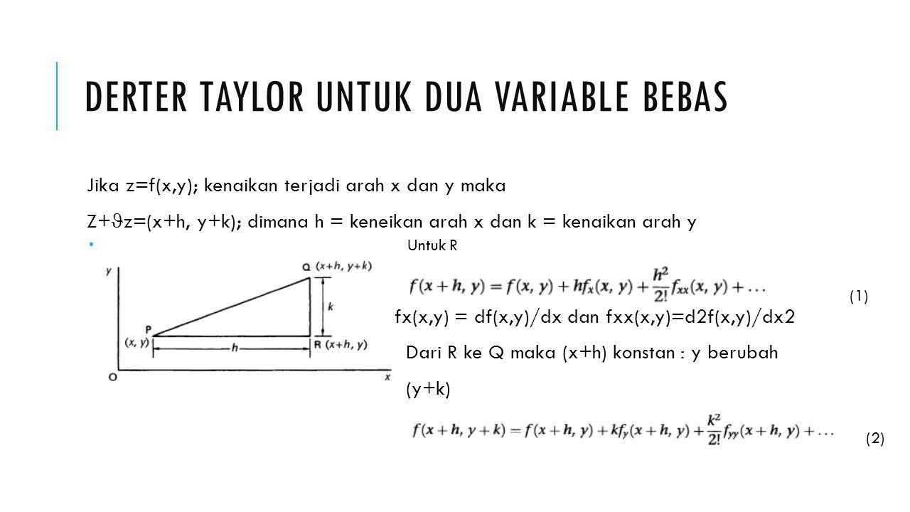 Derter taylor untuk dua variable bebas