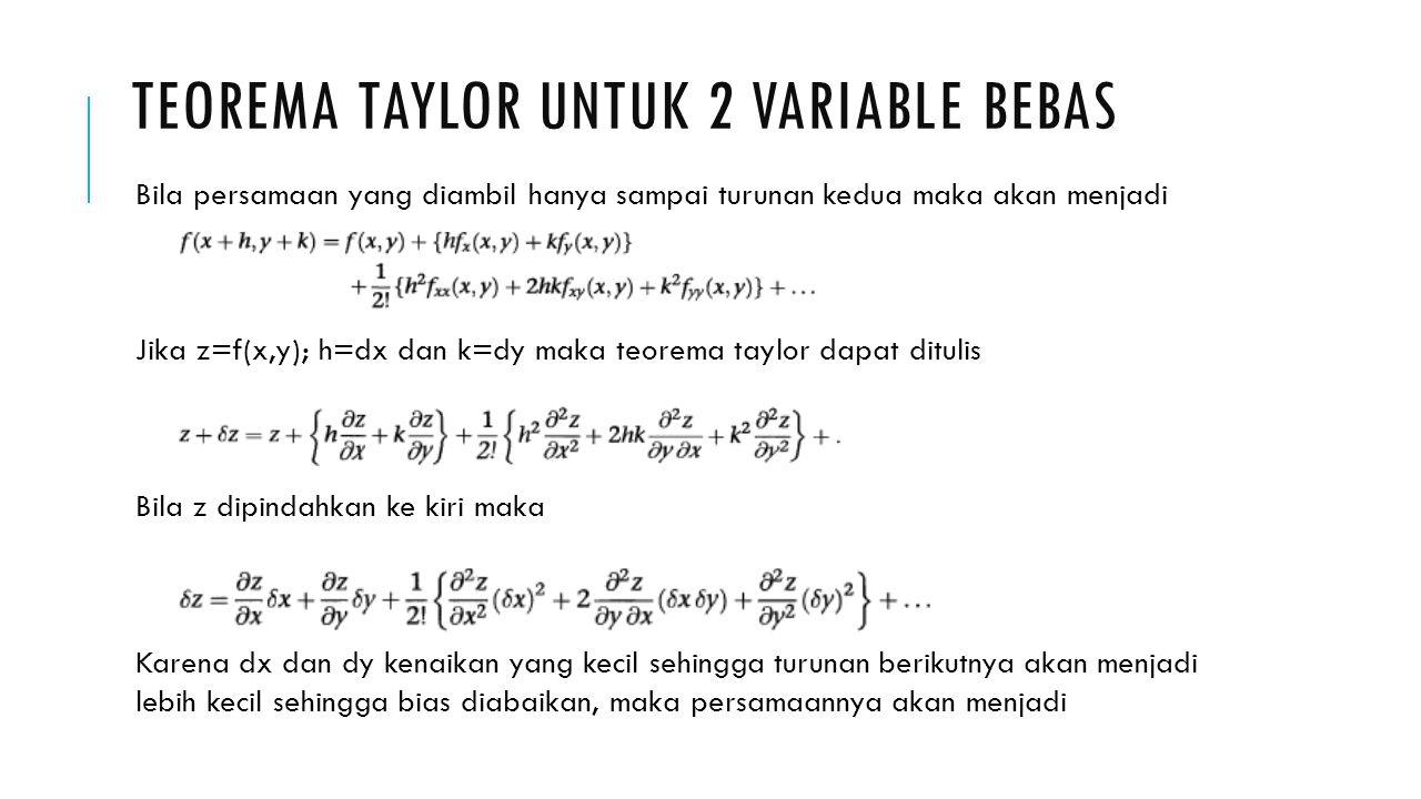 Teorema taylor untuk 2 variable bebas