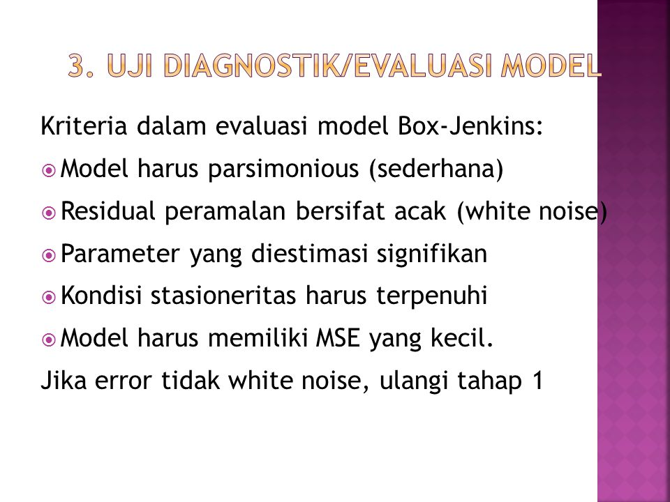 3. Uji Diagnostik/Evaluasi Model