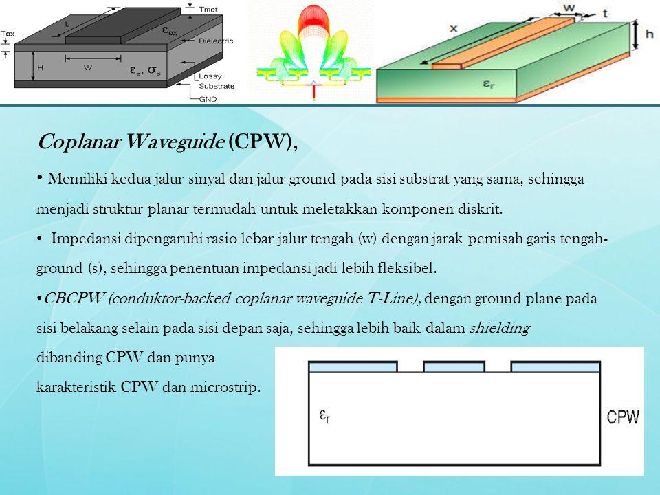 Coplanar Waveguide (CPW),