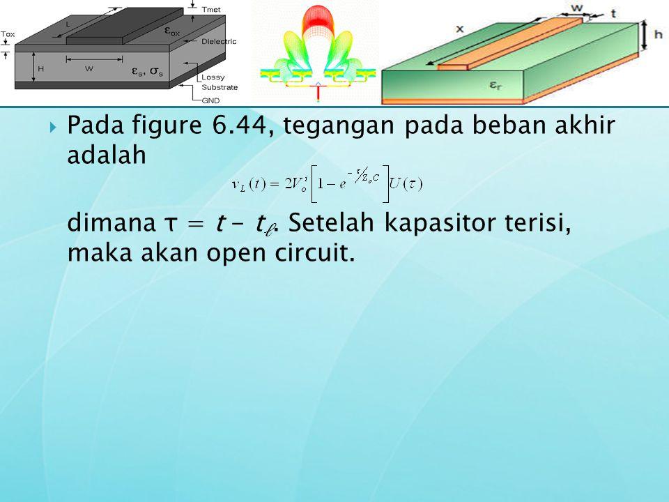 Pada figure 6.44, tegangan pada beban akhir adalah