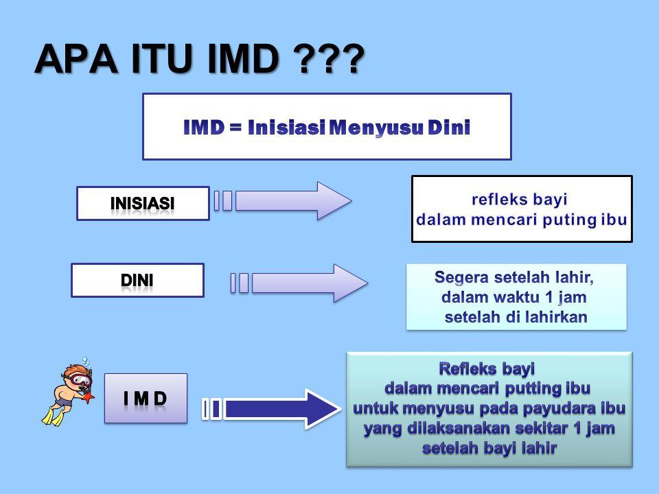 APA ITU IMD IMD = Inisiasi Menyusu Dini I M D refleks bayi