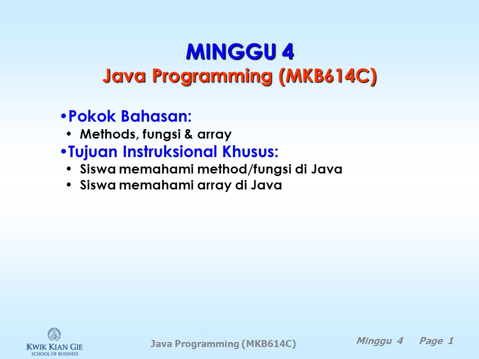 MINGGU 4 Java Programming (MKB614C)