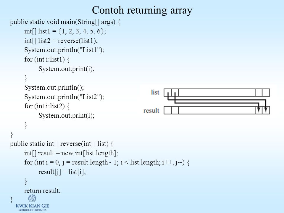 Contoh returning array