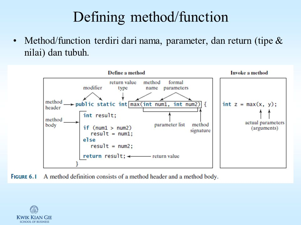 Defining method/function