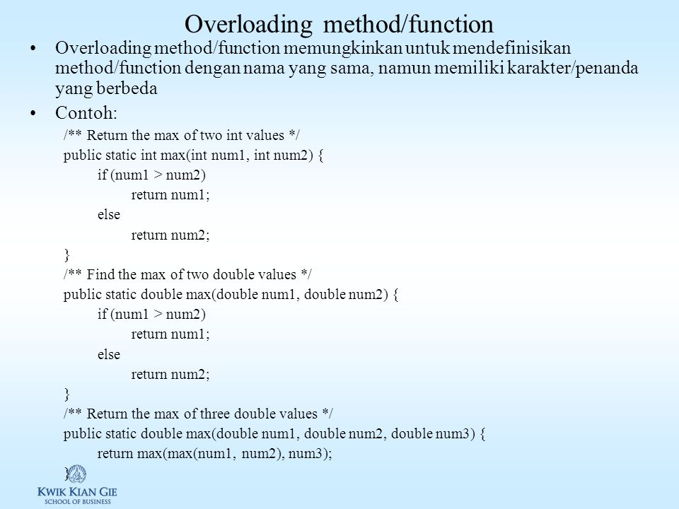 Overloading method/function