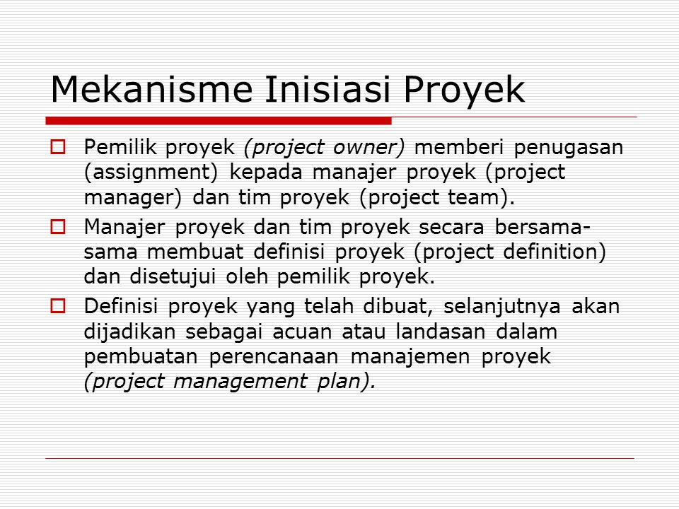 Mekanisme Inisiasi Proyek