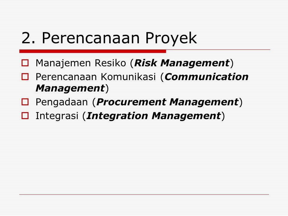 2. Perencanaan Proyek Manajemen Resiko (Risk Management)