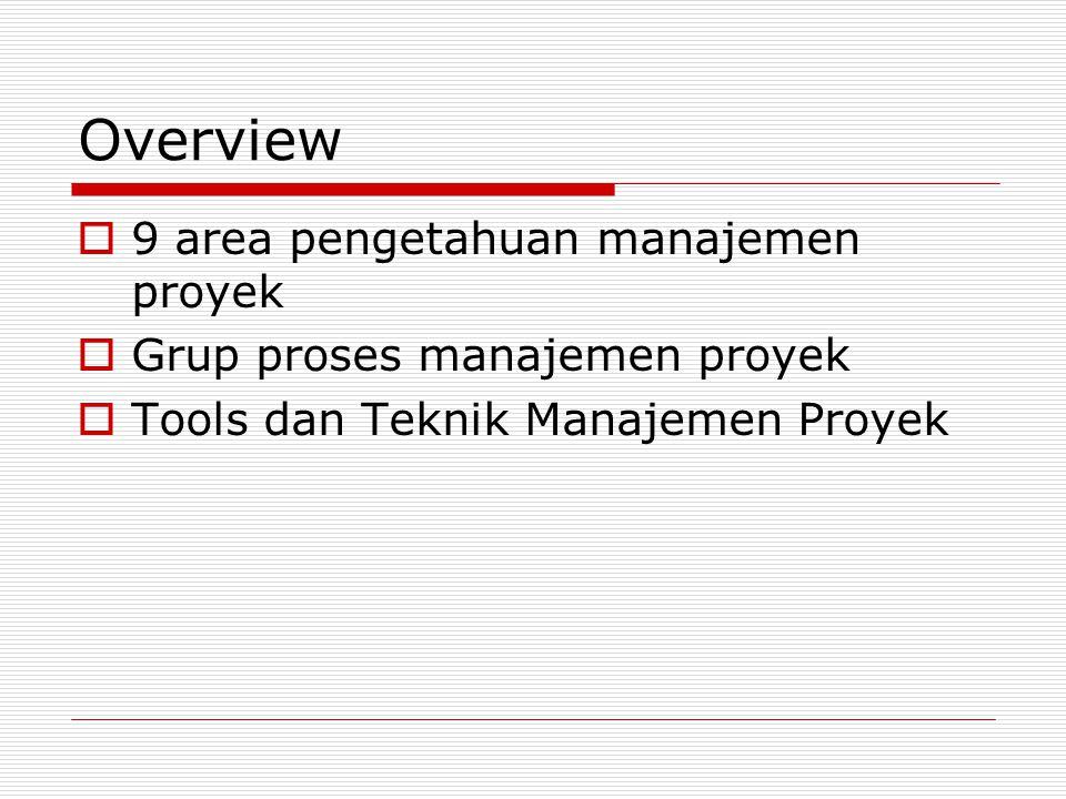 Overview 9 area pengetahuan manajemen proyek