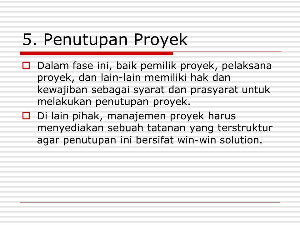 5. Penutupan Proyek