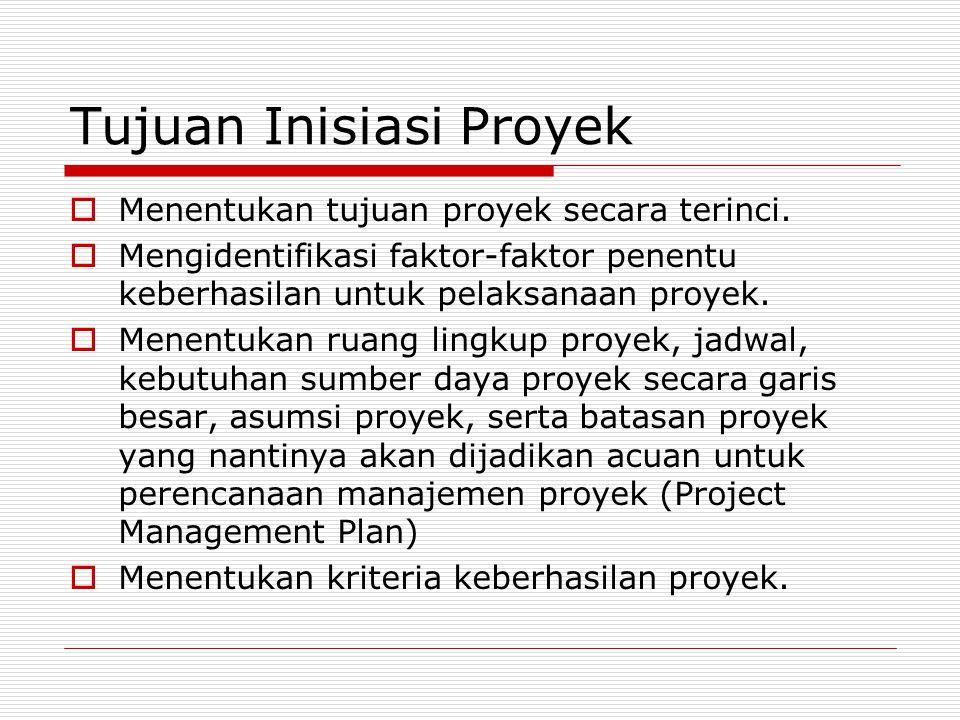 Tujuan Inisiasi Proyek